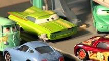 Pixar Cars Lightning McQueen RIPLASH Racers with Lightning McQueen, Chick Hicks, Funny Car