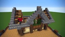 Minecraft Wooden Lodge House Build Tutorial Video Dailymotion