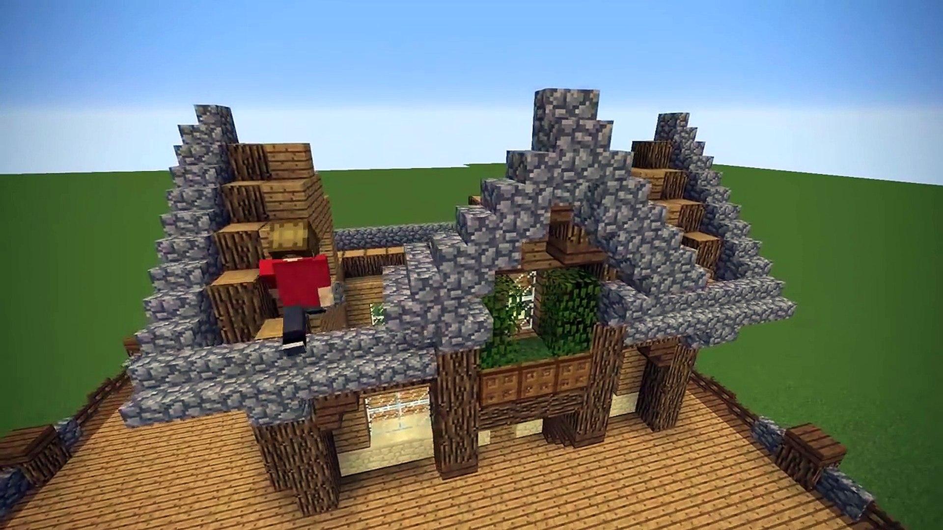 Minecraft Starter Base Tutorial Wooden Minecraft House Video Dailymotion