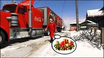 Dessin animé enfants pour enfants garderie rimes chansons homme araignée un camion avec Coca-Cola mcqueen