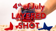4th of July Drink Layered Shot