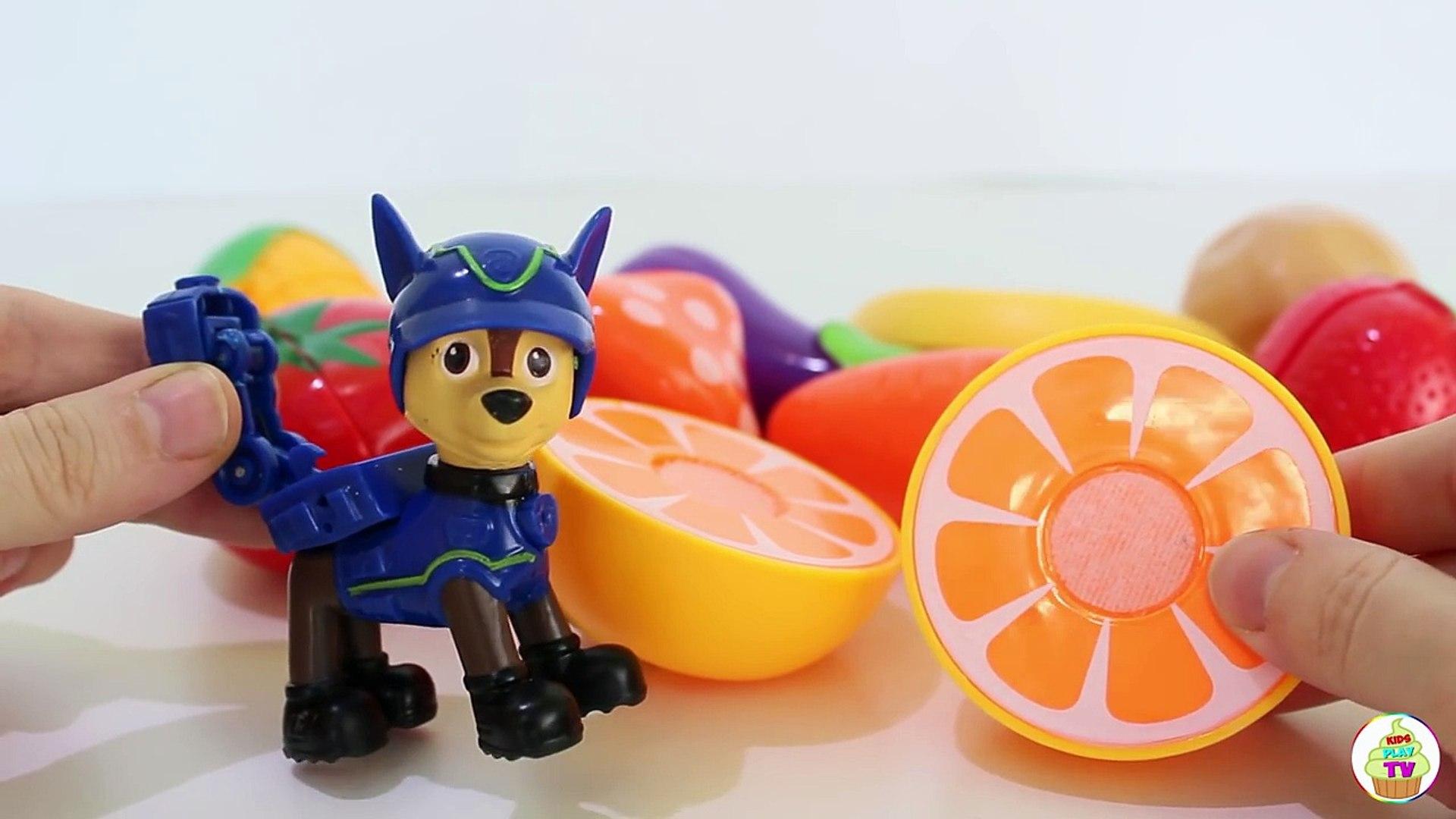 Щенячий патруль новая серия Развивающие мультики учим Овощи и Фрукты игрушки Герои в маска