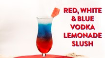 Red, White and Blue Vodka Lemonade Slush Drink Recipe