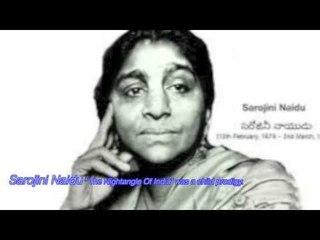 sarojini Naidu