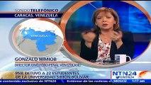 El total de detenidos sería por lo menos de 29 jóvenes, entre los que hay estudiantes de la Universidad Simón Bolívar, de la Central y de la Universidad Católica Andrés Bello: Gonzalo Himiob, director del FPV