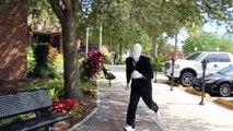 Slender Man Does Parkour (Parkour and Freerunning)