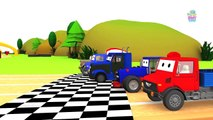 Heavy Vehicles Racing   Truck Racing for Kids  Construction Vehicles Racing - Baby Time