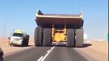 off highway truck on highway