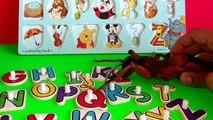 Fourmi attaque amusement amusement énorme enfants Apprendre laisse des lettres avec Abc alphabets puzzle disney