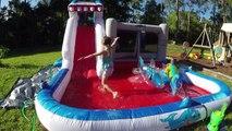 Gros la famille amusement amusement géant gonflable sur de plein air requins faire glisser jouets Toboggan glissant-n-toboggan