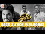 Sarrainodu Back to Back Dialogue Teasers -    Allu Arjun, Rakul Preet, Catherine Tresa, Aadi