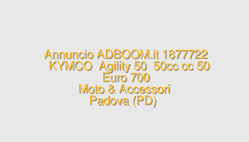 KYMCO  Agility 50  50cc cc 50