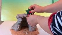 Animaux la grotte bricolage Comment faire faire Nouveau examen à Il jouets Schleich 2016 playset zoo safari figurines ba