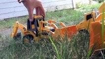 Rétrocaveuse ciment chasse partie jouets Trésor un camion véhicule 1 construction de bulldozer