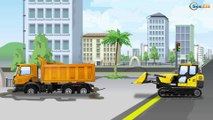 Jcb Truck And Big Truck Car And Trucks Construction Cartoon Kids