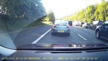 Une Mercedes a essayé de se débarrasser d'un embouteillage,elle obtient un instant karma
