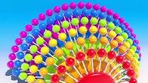 Et bébés gros enfants les couleurs couleurs pour enfants Apprendre apprentissage sucettes spirale 3d t