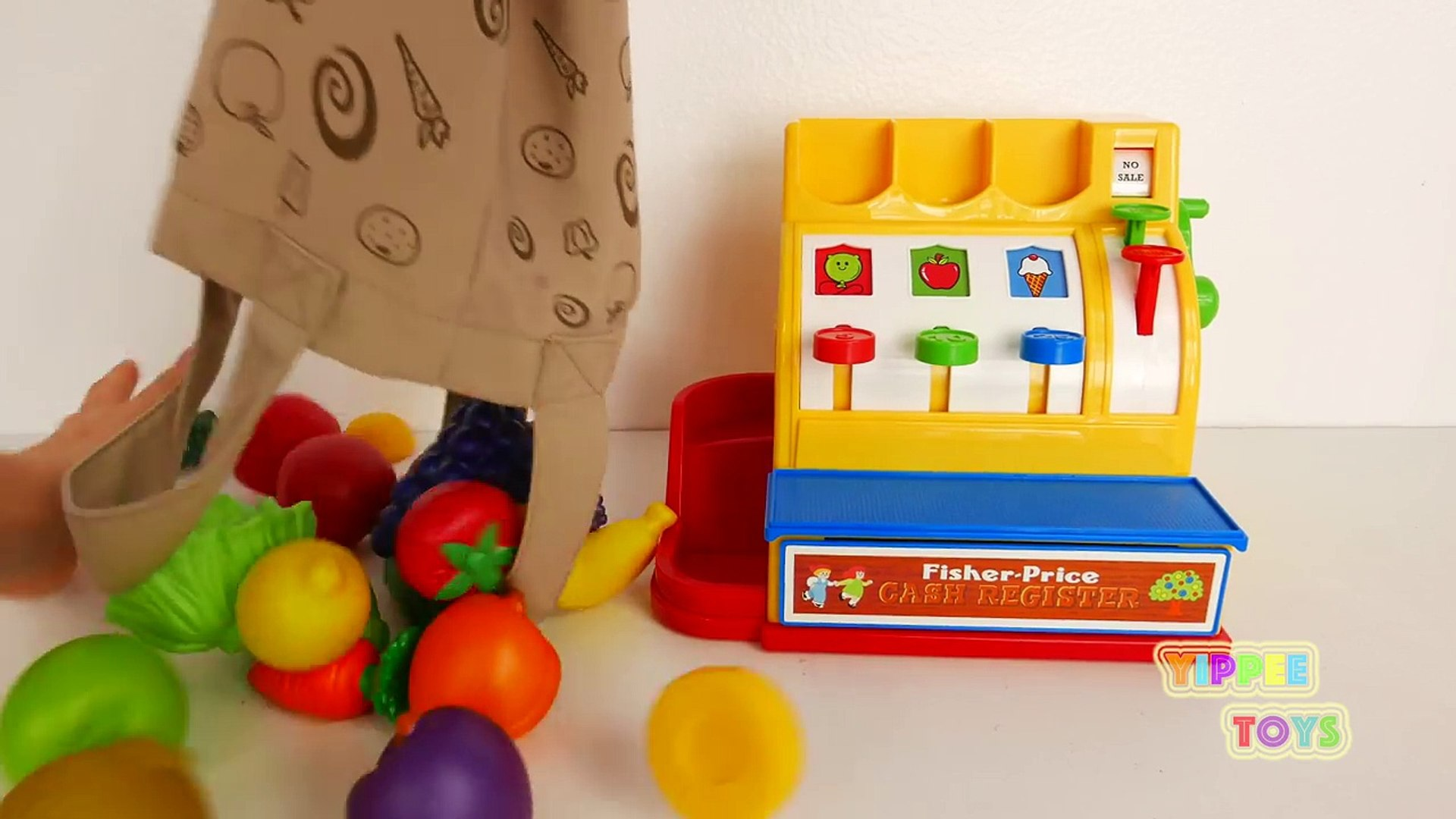 И денежные средства Дети цвета Ф.О. Ф.О. для фрукты Узнайте играть Набор для игр делать вид регистра