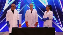 Americas Got Talent 2017 Science Guy Nick Uhas Blows Up Howie on Stage Full Audition S12E