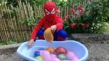 Des ballons couleurs la famille doigt apprentissage vie garderie rose réal Fille de laraignée super-héros humide ★