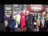 andy ruiz jr vs tor hamer weigh in and face off EsNews Boxing