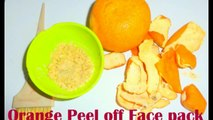 Et brillant visage pour gratuit fait à la maison hors pétrole peler Peau Paquet pack orange / masque