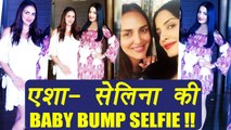 Celina Jaitly and Esha Deol FLAUNT their baby bumps TOGETHER; Watch | FilmiBeat