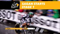 Sagan en action - Étape 1 / Sagan in action Stage 1 - Tour de France 2017