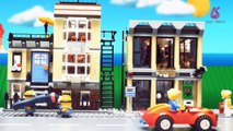 Best Stop Motion Videos Lego MINIONS Theft of Pizza Lego Stop Motion Animation Funny Video