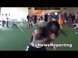 Jermell Charlo working out EsNews Boxing