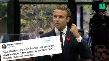 """Macron scandalise avec ses propos sur """"les gens qui ne sont rien"""""""