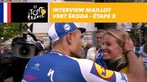 L'interview du maillot vert ŠKODA - Étape 2 - Tour de France 2017