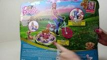 Barbillon bicyclette et et gelé anna poupée barbie jeux de vélo barbie vélo équitation