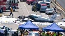 Crash spectaculaire d'un avion sur une autoroute près de Los Angeles