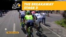 6 coureurs en tête / Six riders in the lead - Étape 3 / Stage 3 - Tour de France 2017