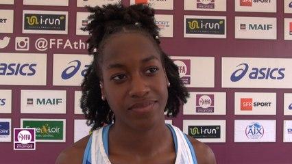 Cyrena Samba-Mayela : « Contente d'avoir battu mon record »