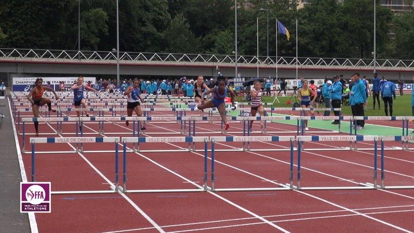 Dreux 2017 : Demi-finale 100 m haies Cadettes