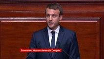 """La République : """"Un idéal de liberté, d'égalité, de fraternité chaque jour resculpté repensé à l'épreuve du réel"""", Macron #CongresVersailles"""
