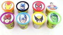 Et les couleurs Jeu ligue Apprendre merveille vase super-héros super-héros avec Justice playdoh surpr