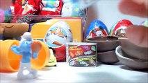 La magie Magie Nouveau et 3 oeufs surprise, Pocoyo Bob léponge Les Schtroumpfs 2 kinder collection Kinde