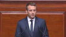 Discours d'Emmanuel Macron devant le Congrès à Versailles