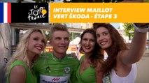 L'interview du maillot vert ŠKODA - Étape 3 - Tour de France 2017