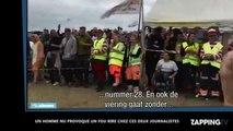 Un homme nu à un festival provoque un fou rire chez les journalistes (vidéo)