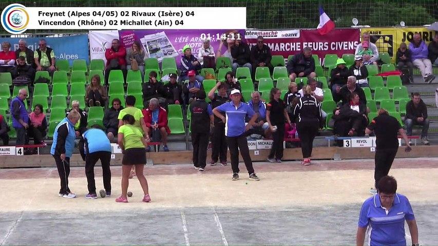 Barrages F2, Sport Boules, France Doubles, Feurs 2017
