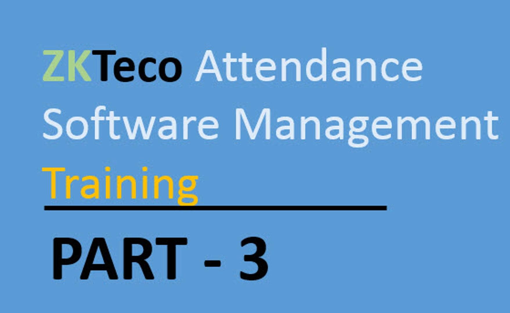 ZKT Device Management -- IFace-702 Configuration Part-3
