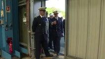Macron sur la base des sous-marins nucléaires de l'Ile Longue