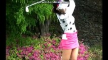 アン・シネおまけ動画ゴルフスイング上半身にフォーカス