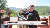 World leaders condemn N. Korea's ICBM launch