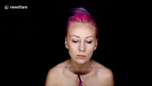 Make-up artist hollows out body in awesome illusion