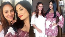 Pregnant Celina Jaitly & Esha Deol SHOW OFF Baby Bumps Together